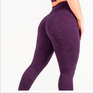 Celestial Bodiez Purple V-cut scrunch butt legging